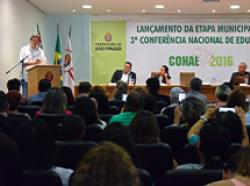 Lançamento da Etapa Municipal da 3ª Conferência Nacional de Educação