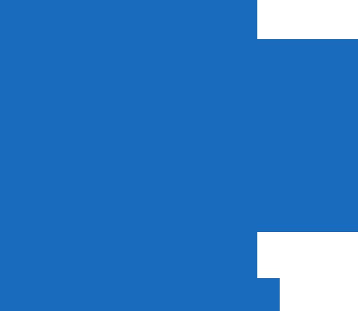 Ilustração na cor azul de duas mãos, uma de criança sobrepondo a de um adulto